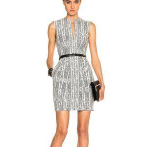L'Agence Abstract Print June Sheath Dress Black Wh